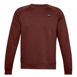 Under Armour Bluza Męska Fleece Crew Bordowa